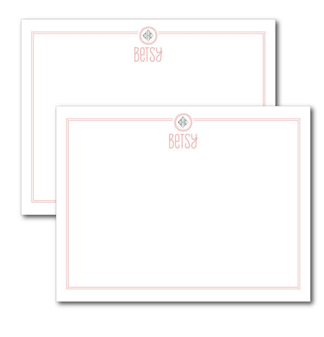 Small Bordered Monogram Stationery