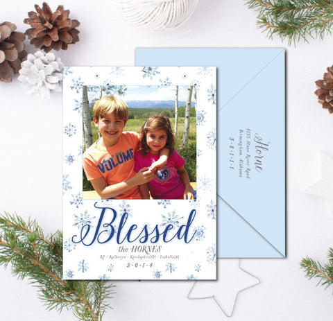Snowflakes Christmas Card