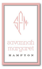 SET OF 2 - Sweet Pink Monogram Bag Tags