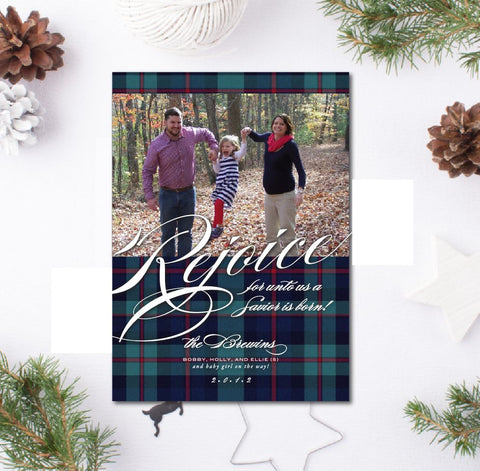 Tartan Plaid Christmas Card