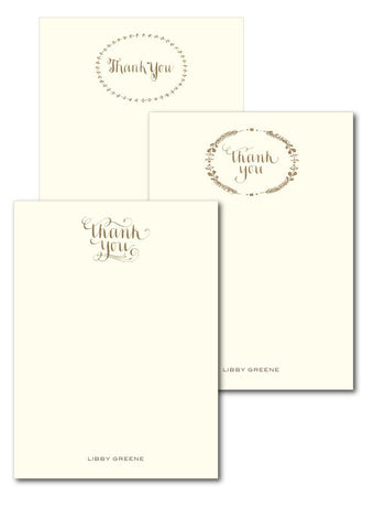 Personalized Thank you Notecard set
