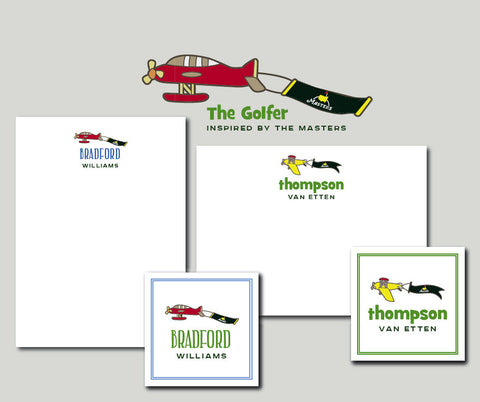 The Golfer Notecards inspired by The Masters Golf Tournament