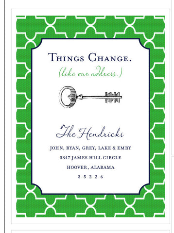 We've Moved: Things Change, small A1 card