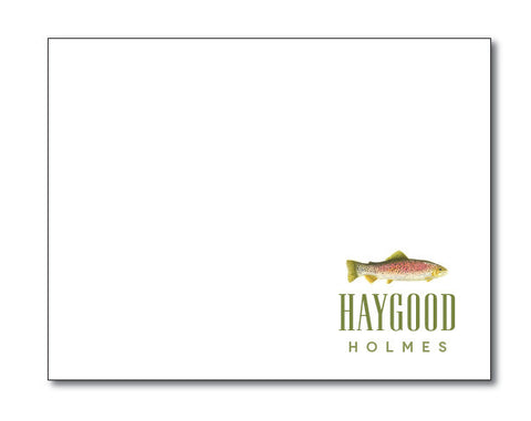 (QTY 24) Trout Stationery Notecard