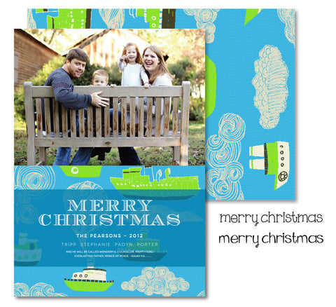 Tug Boat Christmas Card