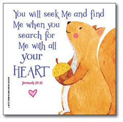 Bible Verse Square Scripture Valentine Classroom Sets - Squirrel