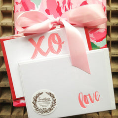Letterpress XO Love notes