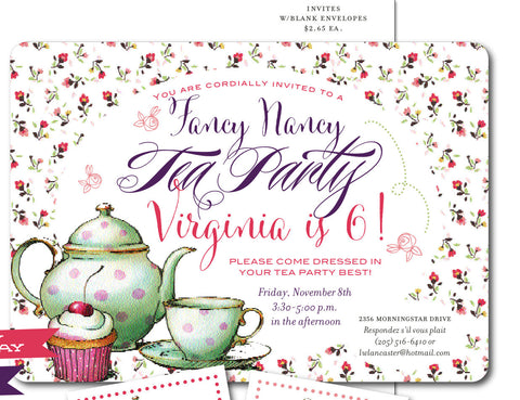 Fancy Nancy Tea Party Suite