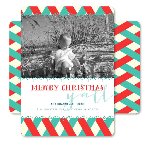 Winter Woven Christmas Card