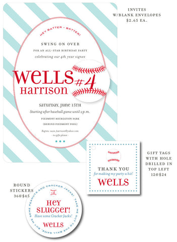 Wells Harrison Baseball Party