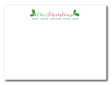Christmas Holly Thank You Notecards