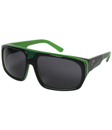 Dragon Blvd Sunglasses- Jet/Lime (Grey)