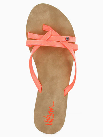 Volcom Look Out 2 Sandals - Neon Orange