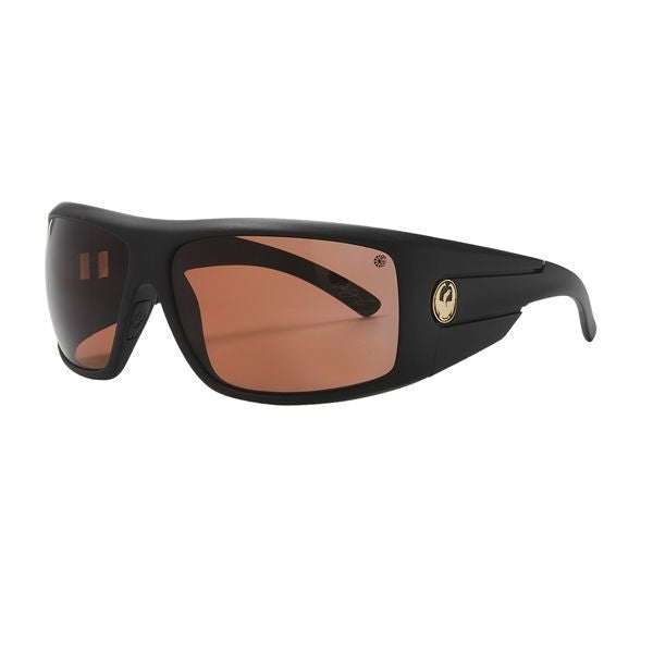 Dragon Shield Sunglasses- Matte Stealth (Brown)