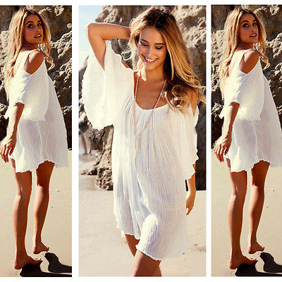 White Beach Cover up Dress