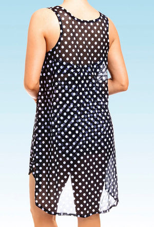 Polka Dot Bikini Chiffon Cover Up