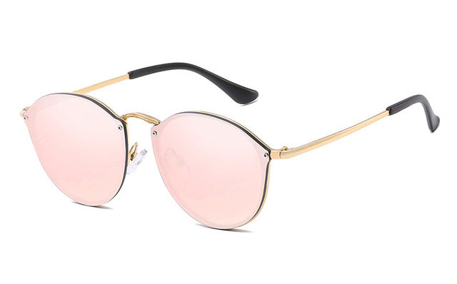 Cat Eye Rimless Sunglasses