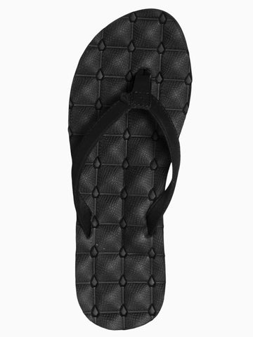 Volcom Recliner Sandal - Black on Black