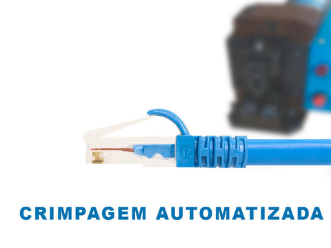 Crimpagem de Cabo Patch Cord