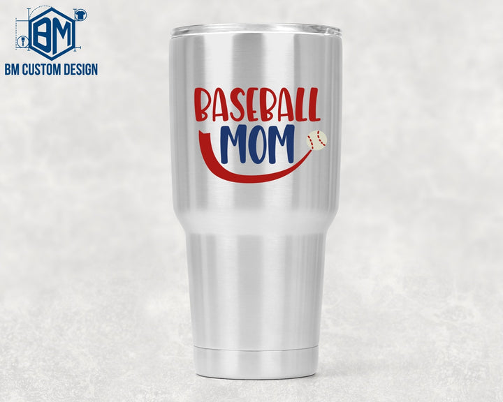 30ozs Tumbler Baseball Mom - BM Custom Design