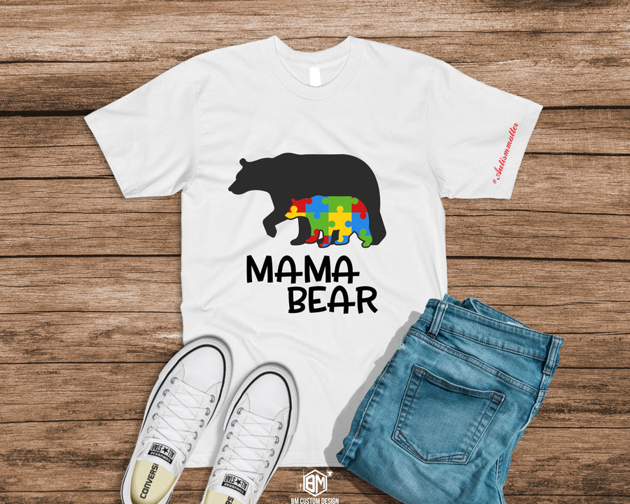 Austim Mama Bear with message - BM Custom Design