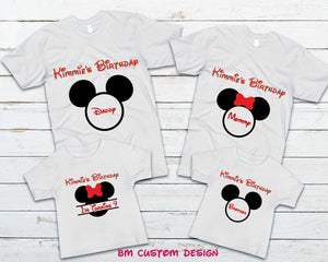 Birthday Family Mickey and Minnie - BM Custom Design