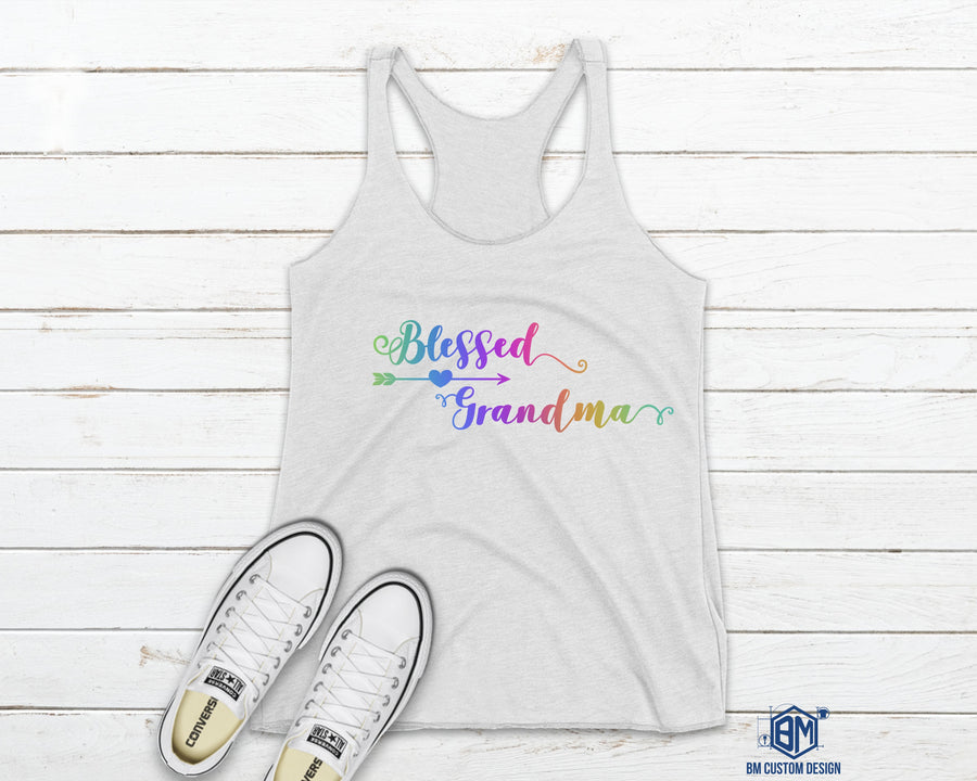 Blessed Grandma Tank Top Color - BM Custom Design