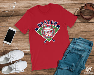 Boston All Championships Red T-Shirt - BM Custom Design