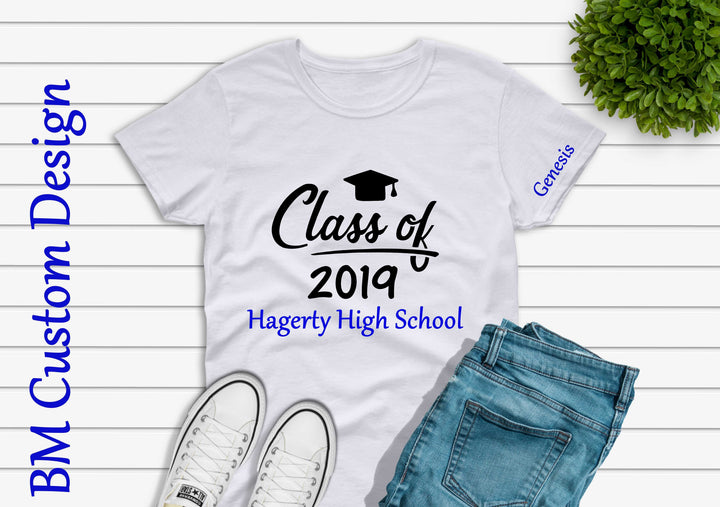 Class 2019 With Name and High School - BM Custom Design