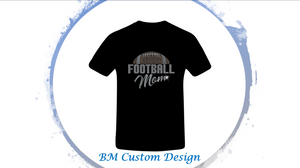 Football Mom Rhinestones - BM Custom Design