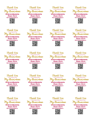 Multipurpose Thank You for your Business Labels