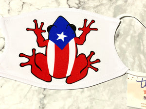 Puerto Rico Coqui Personalized Face Mask with Filter