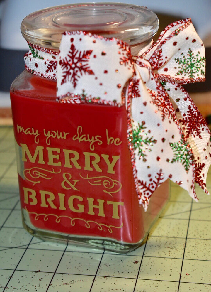 Personalized Holiday Candle - BM Custom Design