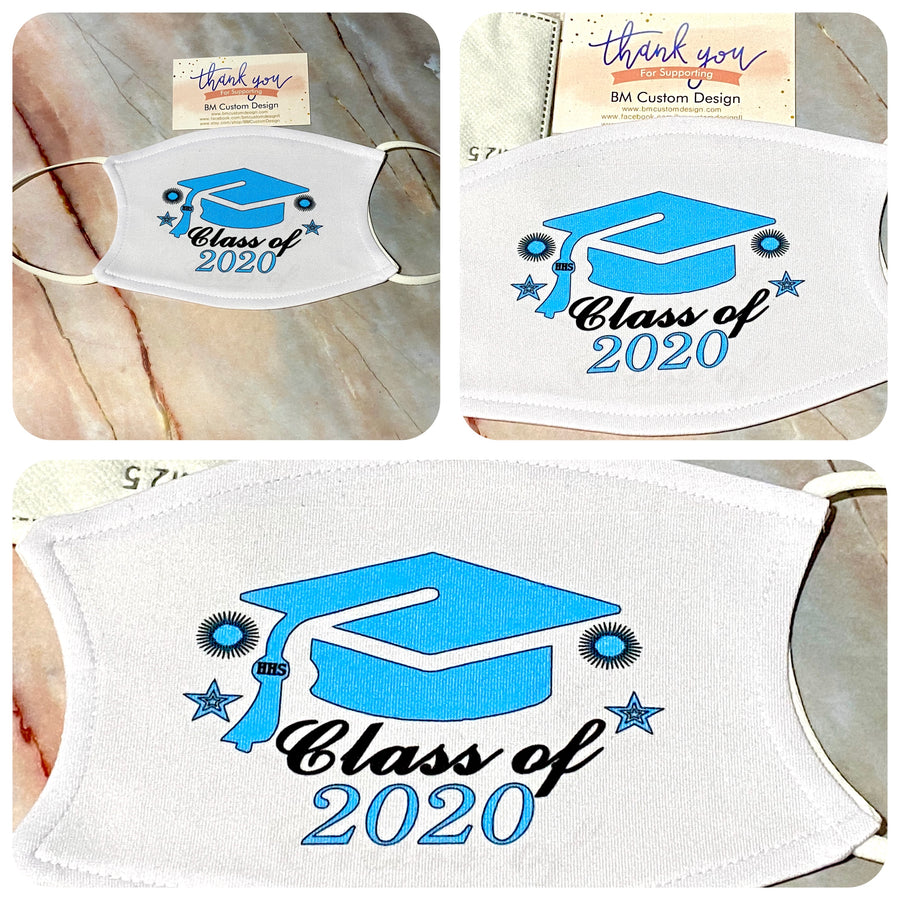 Class 2020 Personalized Face Cover with 2 filters