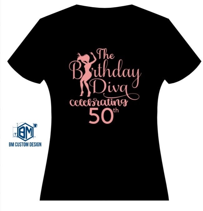 Birthday Diva Custom T-Shirt