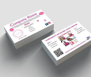 Custom Business Cards for Beauty Influencers