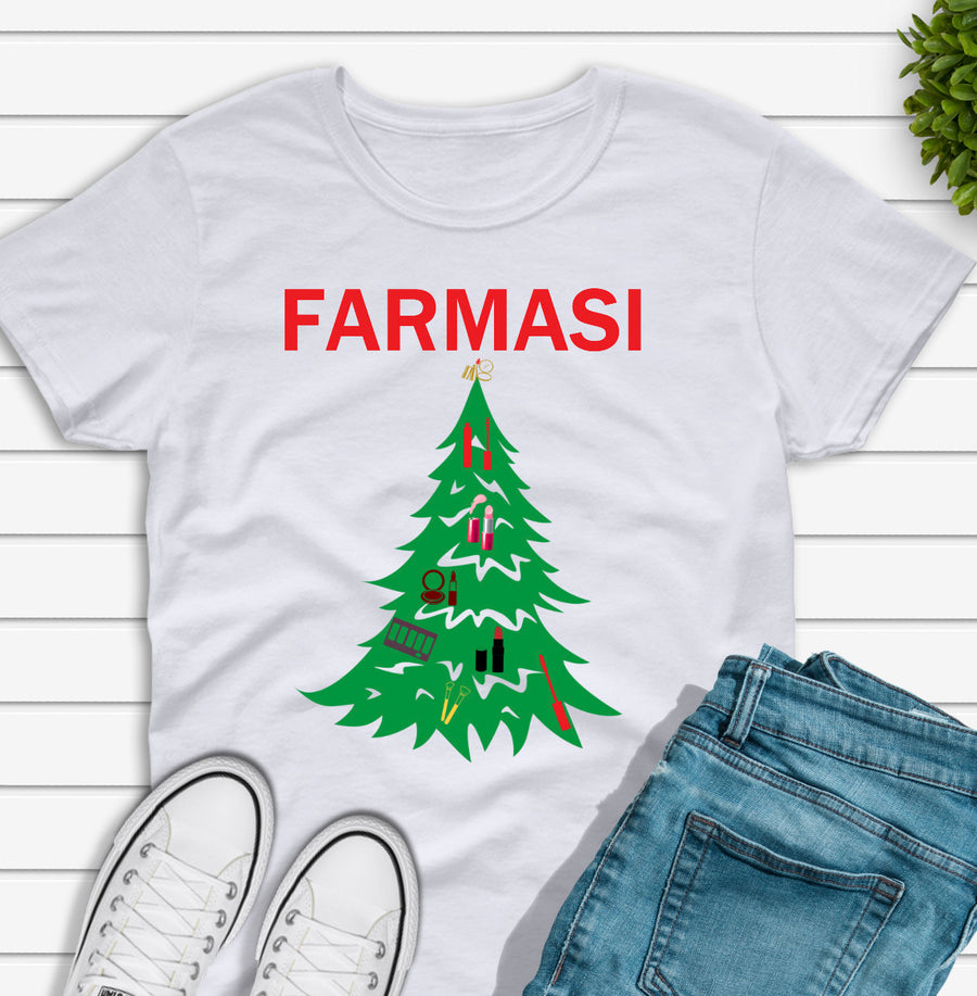 Farmasi Custom T-Shirt Christmas Tree With MakeUp