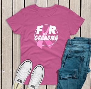 Grandma Breast Cancer Support T-shirt