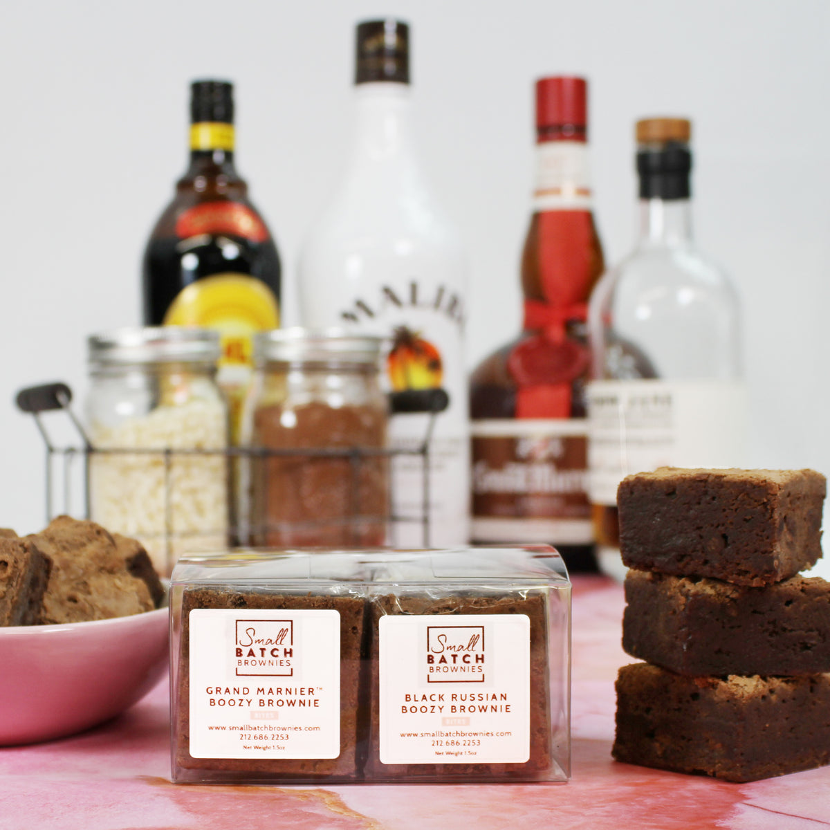 Coconut Rum & Lime Boozy Blondies-Small Batch Brownies