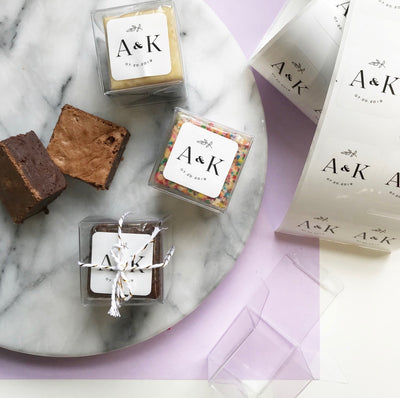 Custom Brownie Party Favors-Small Batch Brownies