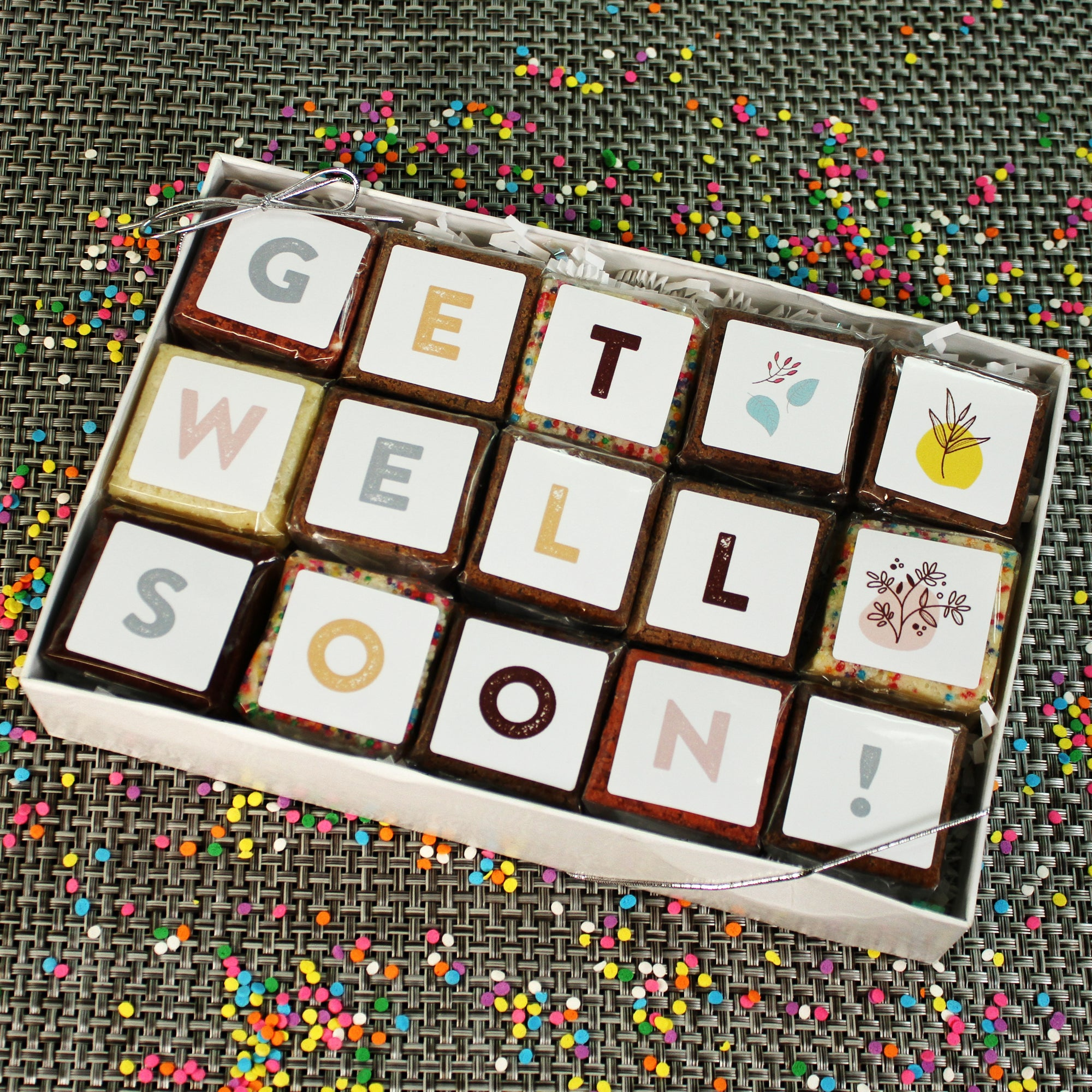 Get Well Gift of Brownies. Get Well BrownieGram-Small Batch Brownies