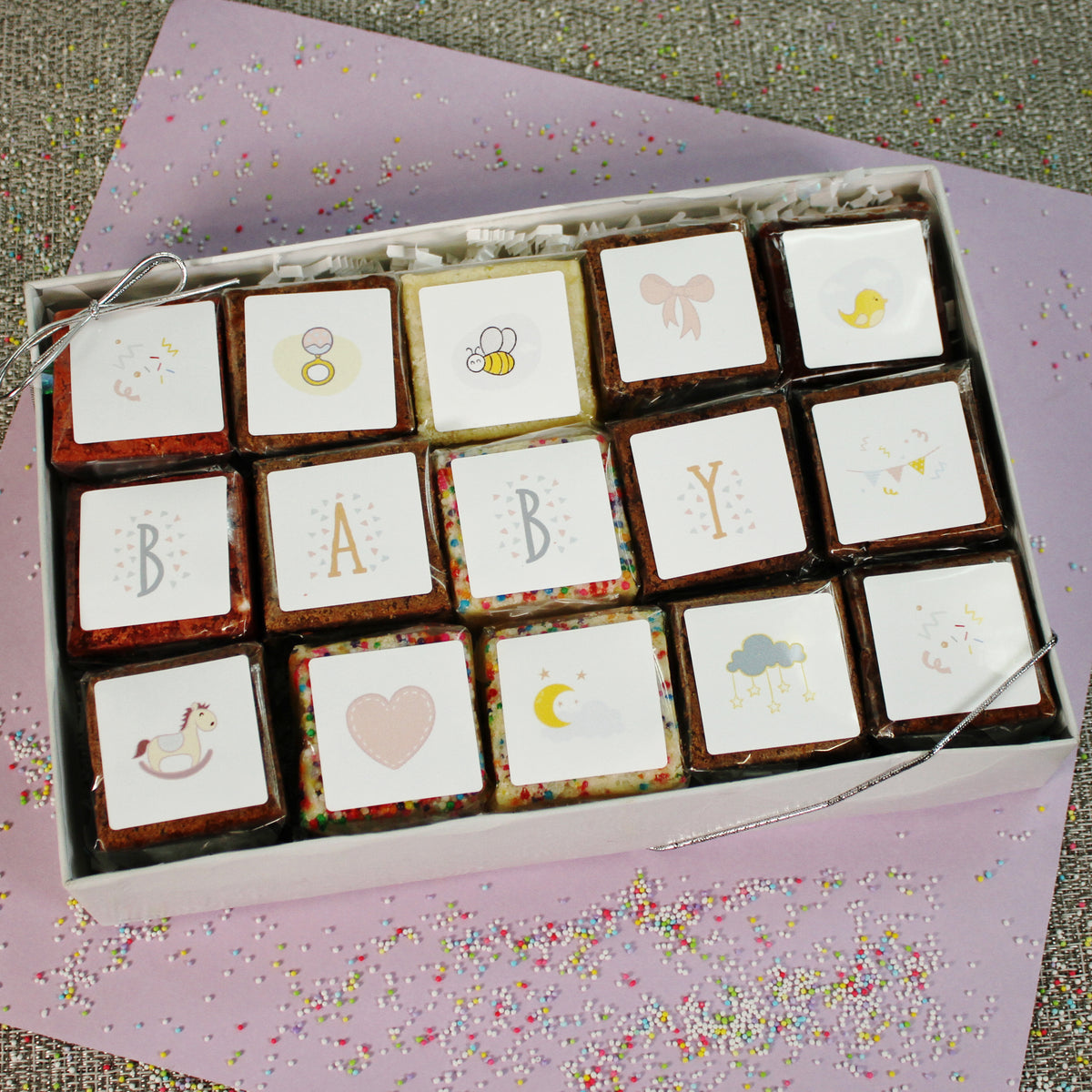 A Great Baby Announcement or Baby Shower Gift.Baby BrownieGram-Small Batch Brownies