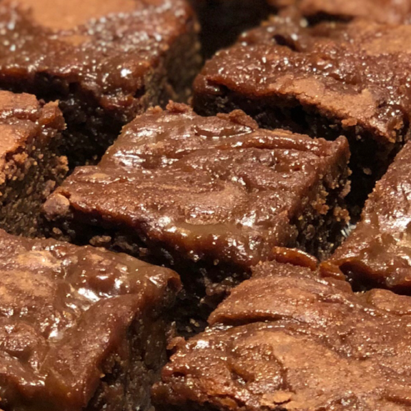 Salted Caramel Brownies-Small Batch Brownies