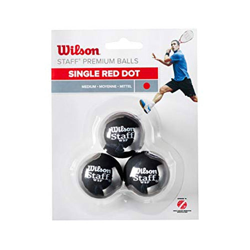 Wilson 3 Ball Red Dot squash ball