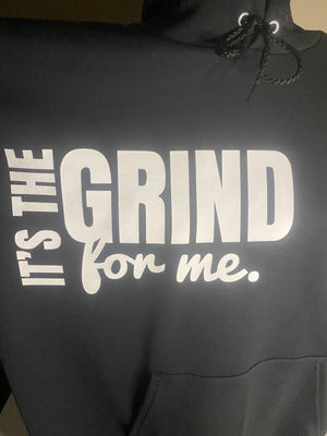 Open image in slideshow, It's The GRIND For Me Hoodie - Wiz White Collection LLC