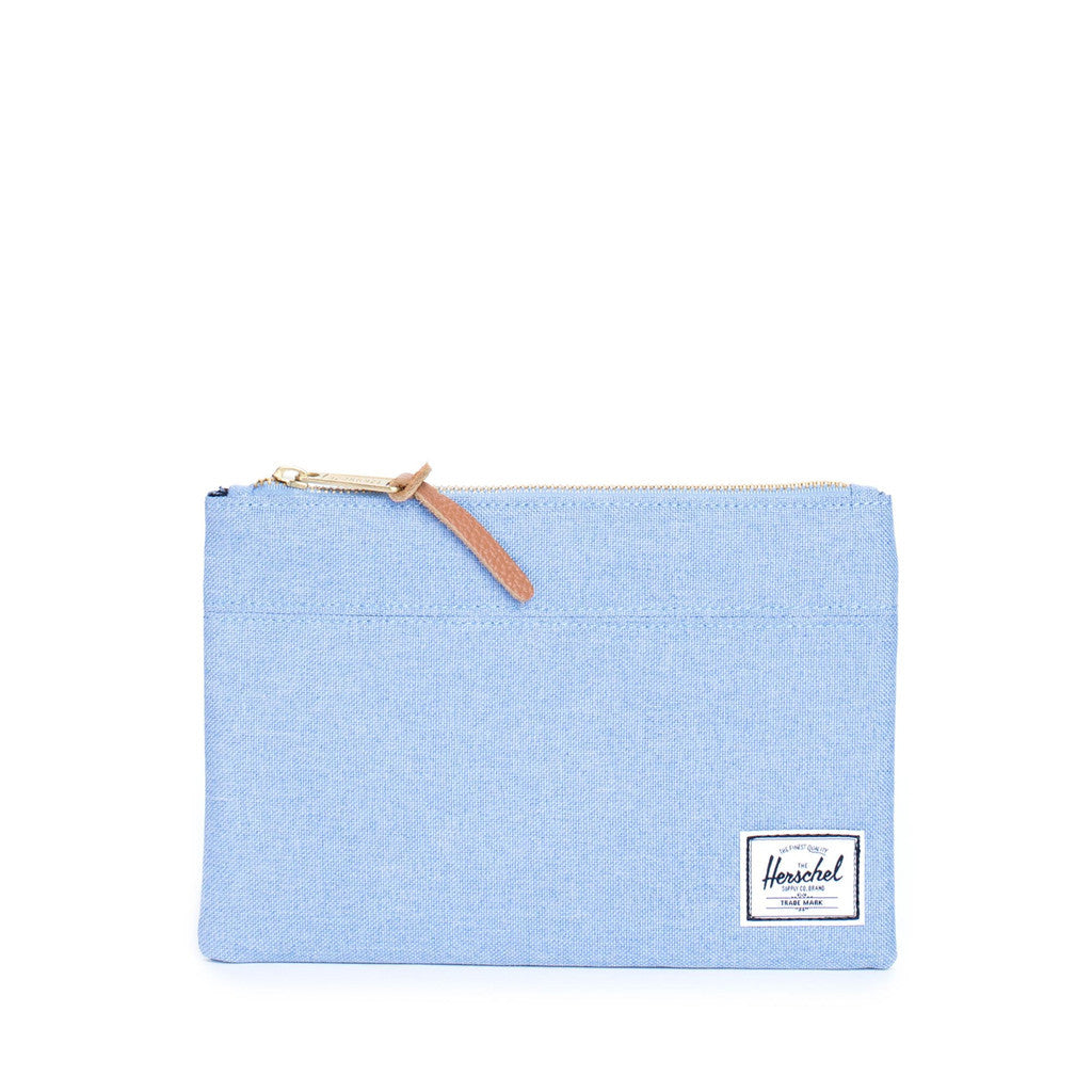 Herschel Large Network Chambray Pouch