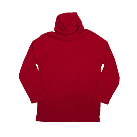 Red Jersey Turtleneck