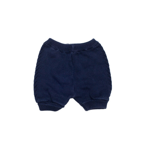Knitted Navy Shorts