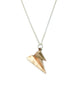 It's A Double Paper Airplane Necklace