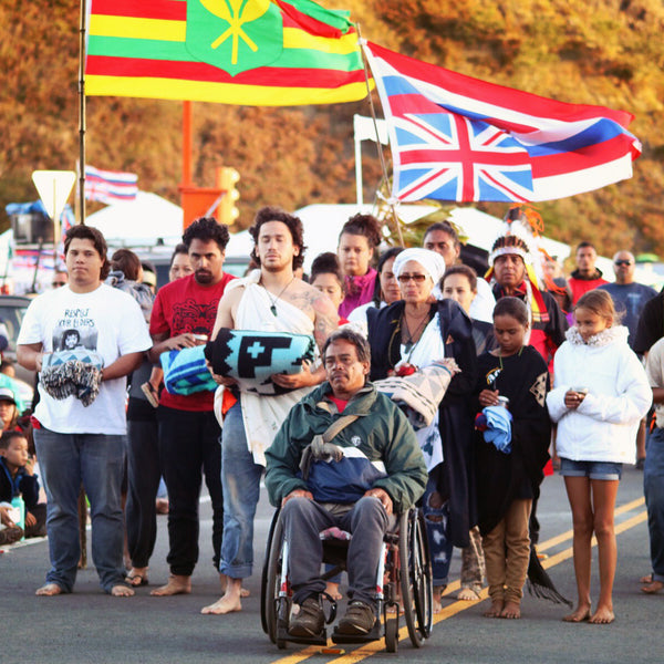 Protectors on Mauna Kea Warmed by Eighth Generation Blankets